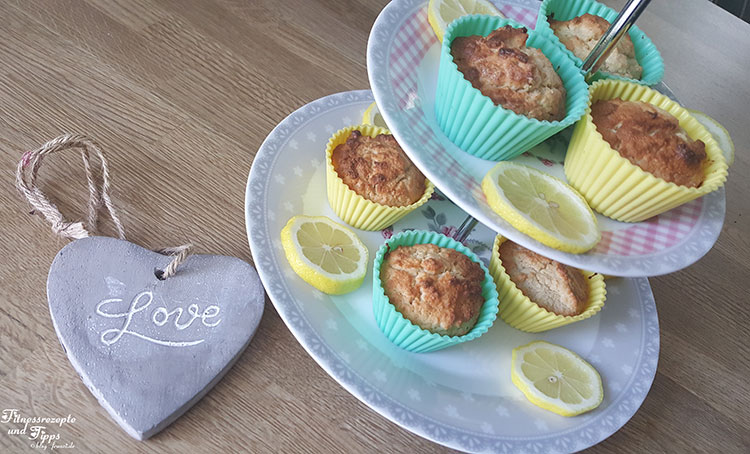 Zitronen Muffins – Low Carb