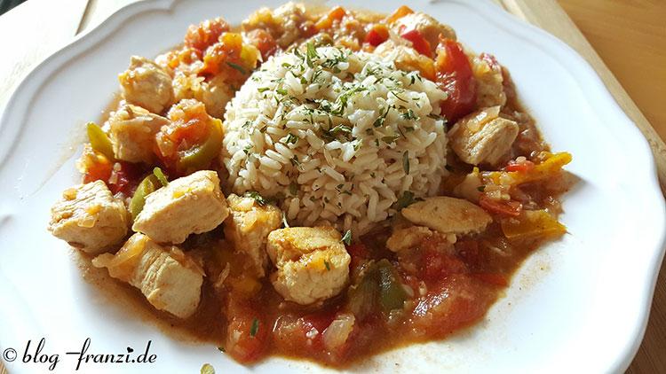 Orientalisches Hähnchen (Ohne Reis Low Carb geeignet)
