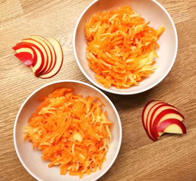 Möhren Apfel Salat
