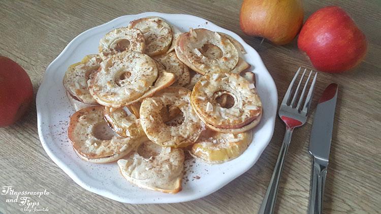 Apfelproteinringe mit Mandelsplitter