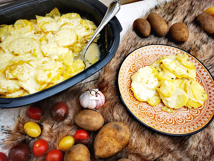 Kartoffel-Knoblauchgratin