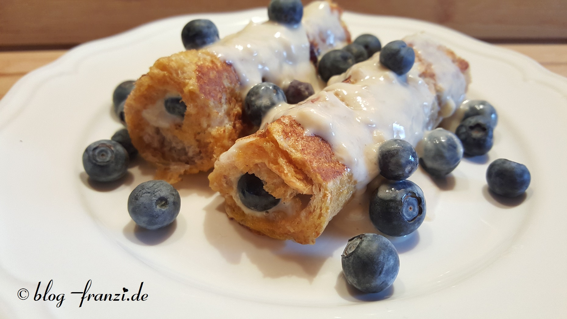 Blueberry Protein French Rolls