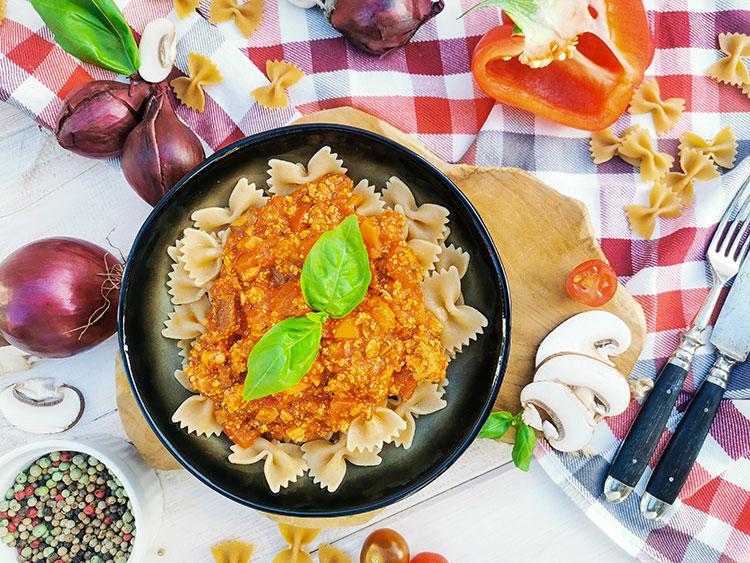Spaghetti Bolognese Vegetariá