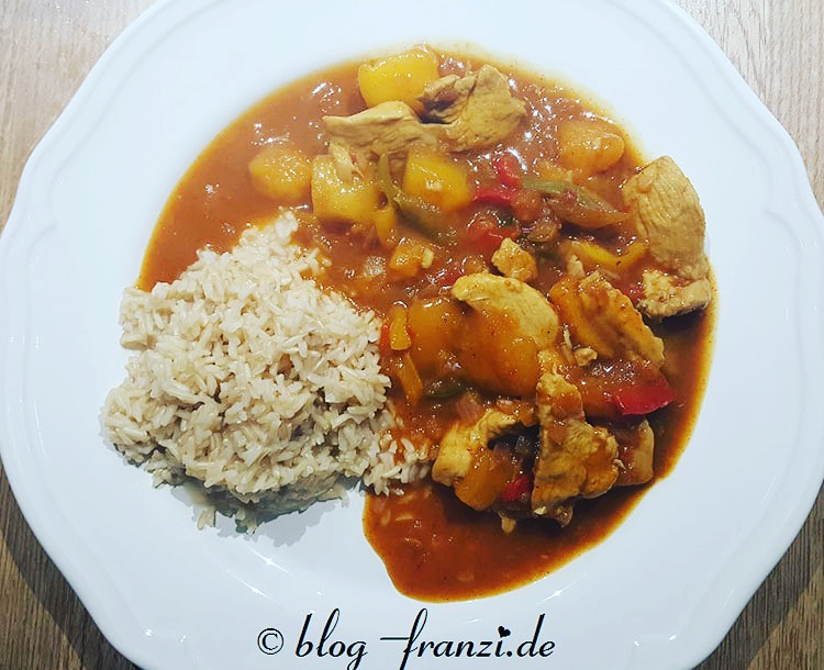 Hühnchen-Mango-Reis