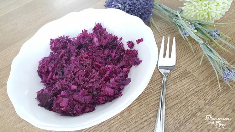 Rotkohlsalat – Rotkrautsalat – Kirmizi Lahana Salatasi