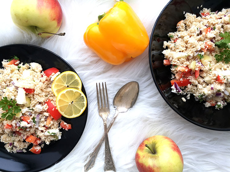 Fruchtiger Cous Cous Salat mit Schafskäse