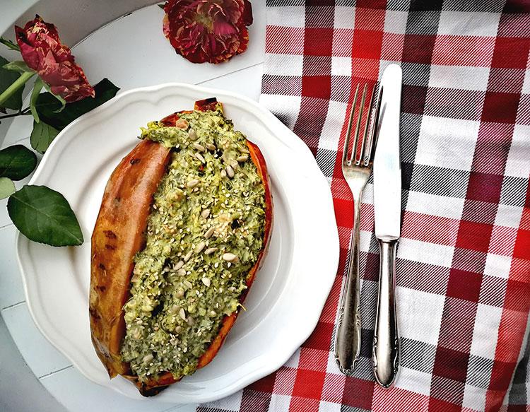 Süßkartoffel mit Grünkohl