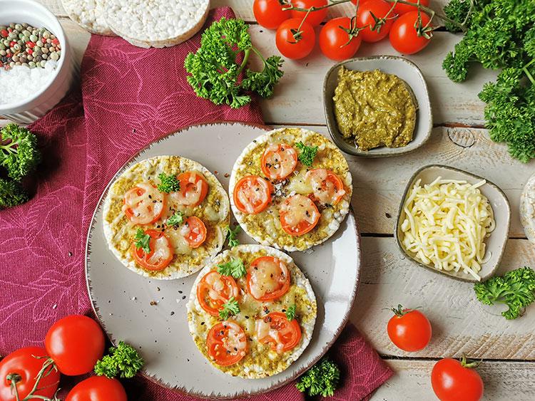 Reiswaffel Tomatico