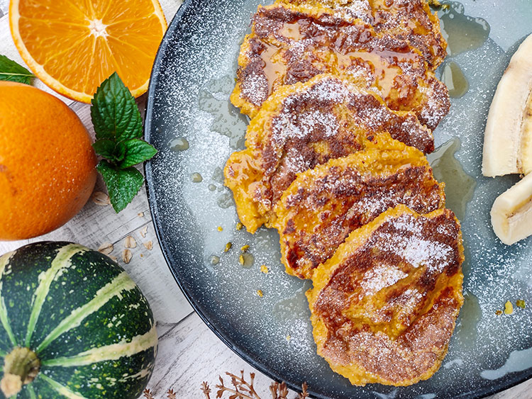 Butternut Pancakes mit Orangennote